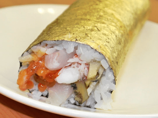 gold plated sushi