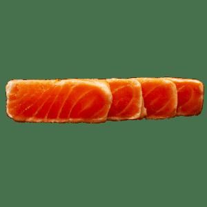 Tataki de salmón en aceite de trufa