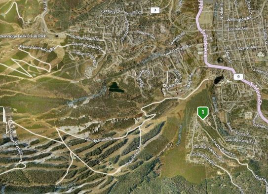 map of warriors preserve neighborhood in Breckenridge