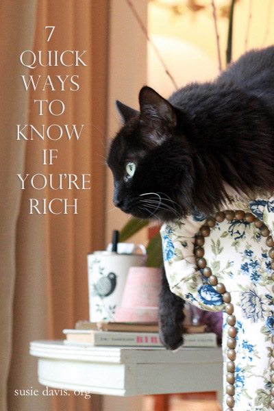7 quick ways to know if you're rich