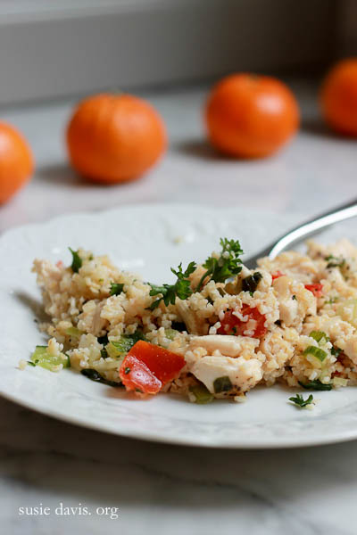 chicken tabbouleh w lemon, mint, parsley & cucumber