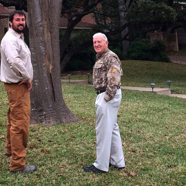 Daddy, Arborist & Spanish Oak Tree