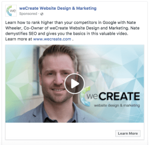 weCreate Facebook Vieo Ad