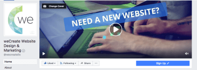 weCreate Facebook Video Ad