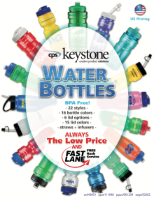 Water Bottle Catalog Design  for CPS