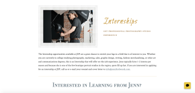 Jennifer Dworek Website Design