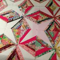 Crazy Little Strings - Diamond Charms Quilt Block and Tutorial