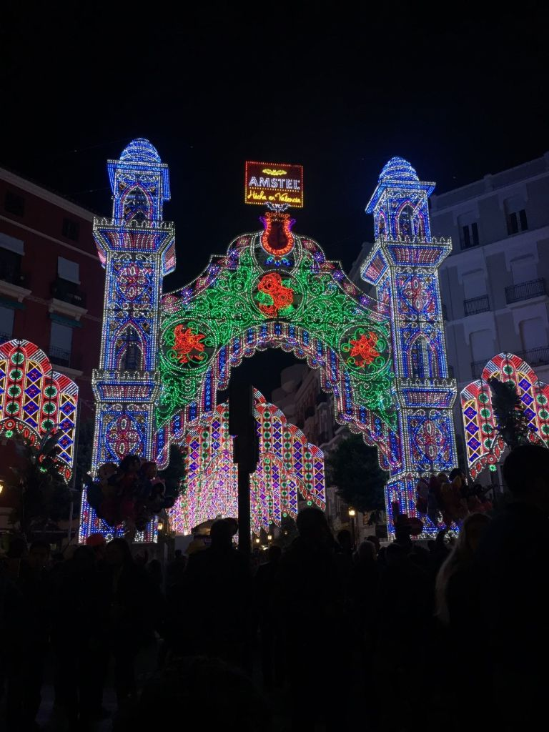 lights ruzafa las fallas in valencia