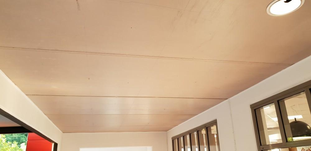 Fibre cement ceiling