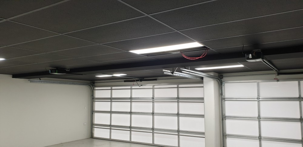 Black suspended ceiling fitted with Black ceiling tiles