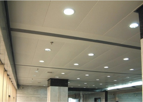 Perforated Acoustic Lay In Ceiling Tiles aluminum , 600mm