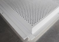 Metal Beveled Edge Perforated Ceiling Tiles Suspended