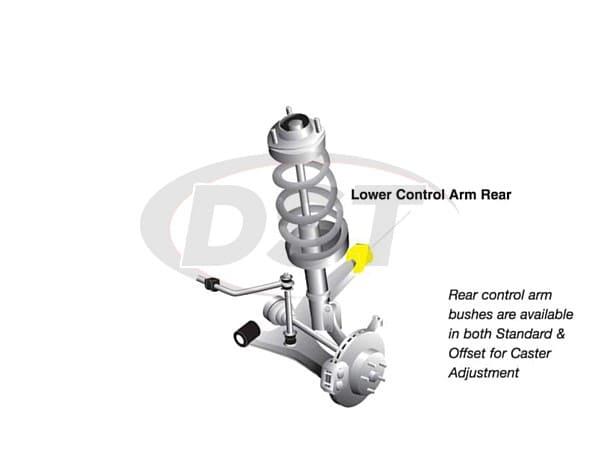 Front Control Arm Bushings Mitsubishi Lancer Evolution