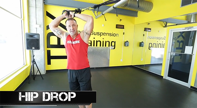 trx leg exercises hip drop