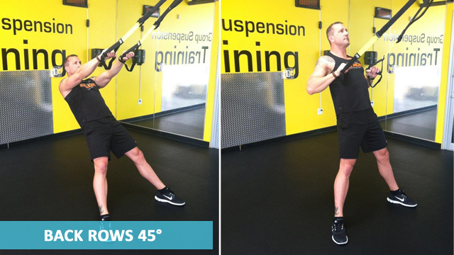 TRX Back Workouts - Back Rows 45