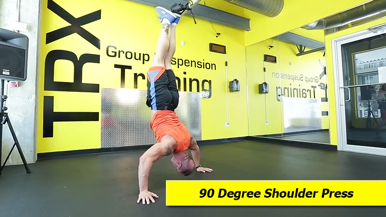 TRX shoulder exercises - 90 degree shoulder press