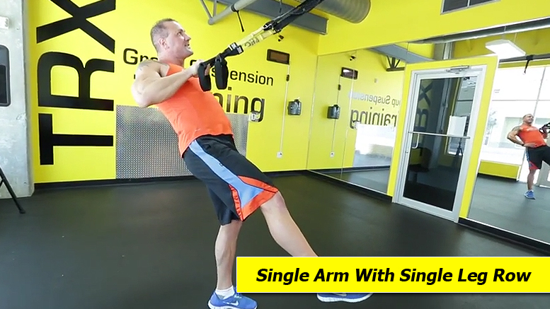 TRX shoulder exercises - Single arm with single leg row
