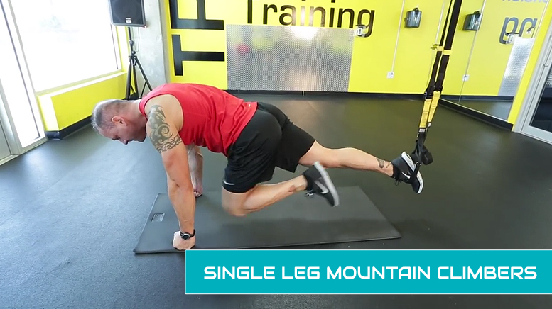 TRX leg workouts - single leg mountain climbers