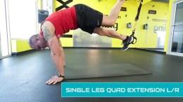 TRX leg workouts - singleleg quad extension