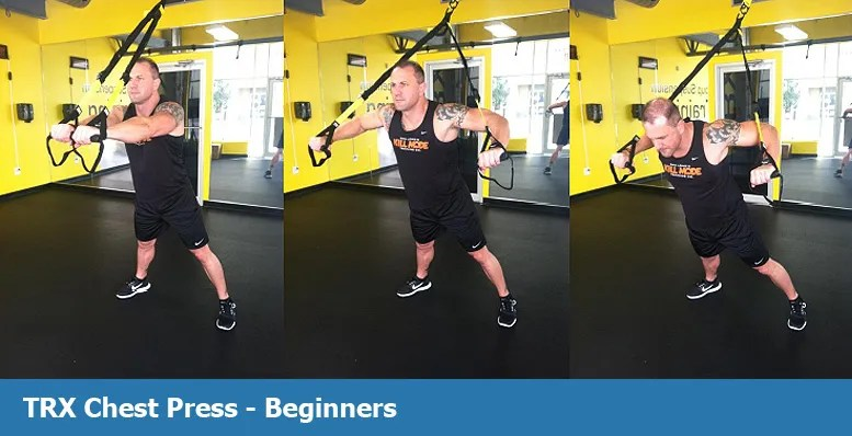TRX chest press for beginners