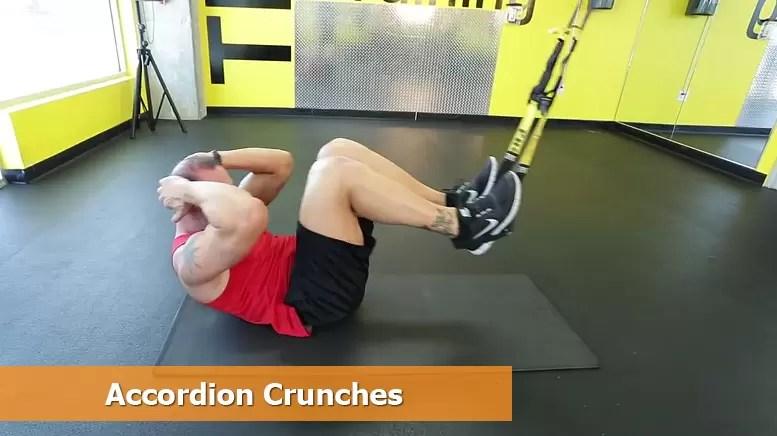 TRX core workouts - Accordion crunches