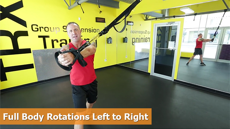 TRX core workouts - Full body rotations left to right