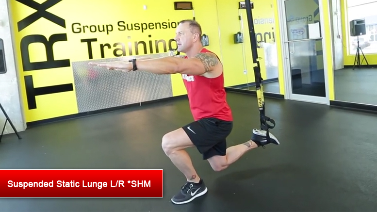 TRX lower body exercises - Suspended Static Lunge LR
