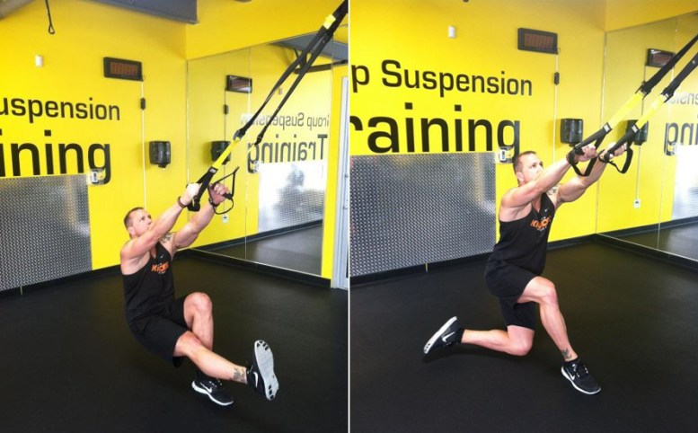 TRX Single Leg Squat Floating Lunge Combo