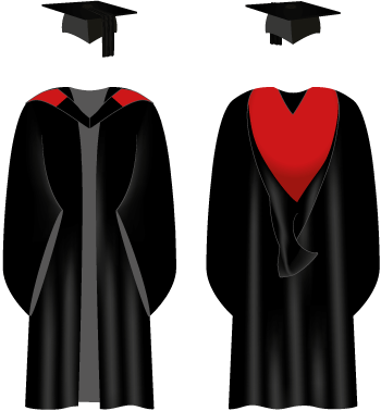 graduation gowns getting ready