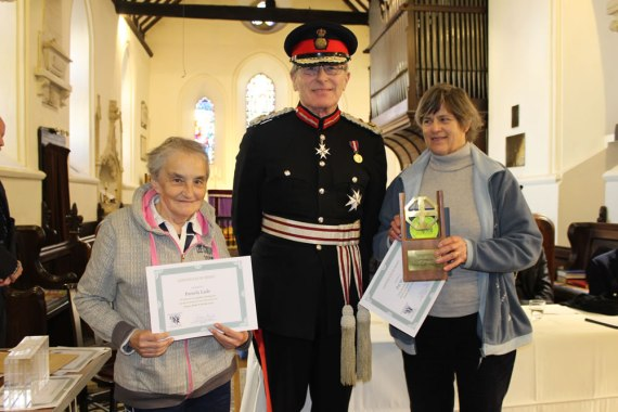 The special award trophy goes to Pat Weeks from St Margaret the Queen, Buxted who raised a record £1235 which is absolutely amazing The runner up was Pamela Lade from St John the Evangelist, Eastbourne who raised £1126