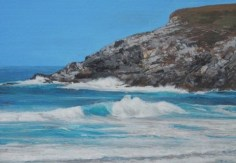 Charity postcard donated by Glen Smith entitled 'Holywell Bay'