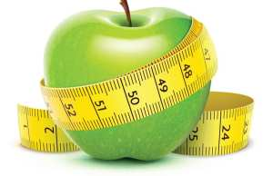 Apple with tape measure, Health