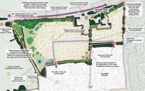 Map of new development at West Durrington West Sussex