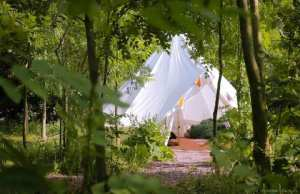 Bell tent at Plush Tents Glamping