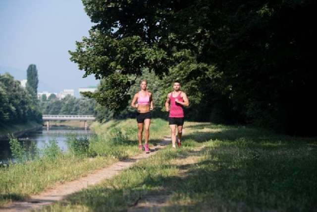 Couple Fitness Jogging Workout Wellness Concept