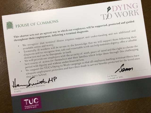 Henry Smith MP TUC Dying to Work