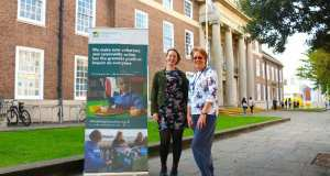 Jess Sumner, of Community Works and Cllr Val Turner, Worthing Borough Council's Executive Member for Health and Wellbeing