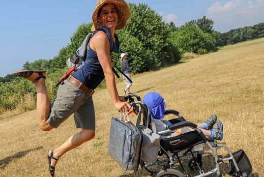 Gwenn Parker-Tregoat Growing Communities Engagement Officer on a previous Town to Downs walk