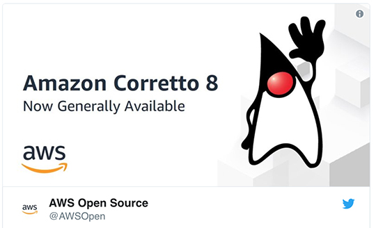 Specify Collections Consortium replaces Oracle's JAVA SE software with the Amazon's Corretto