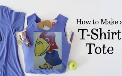 Learn to make a recycled t-shirt totebag, and take one home!
