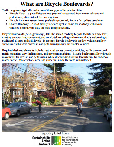 Bicycle Boulevards Policy Brief