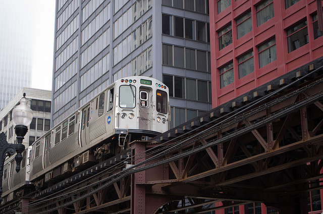 Chicago, Elevated Train.