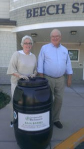 Winners of the Rain Barrel Raffle at the 3rd Green Garden Tour.