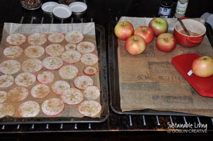 Äppelchips prep