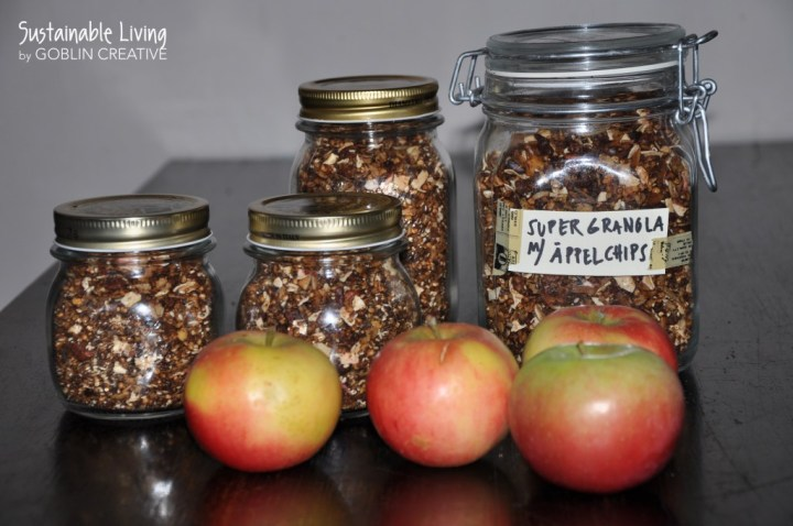 Supergranola med äpplen