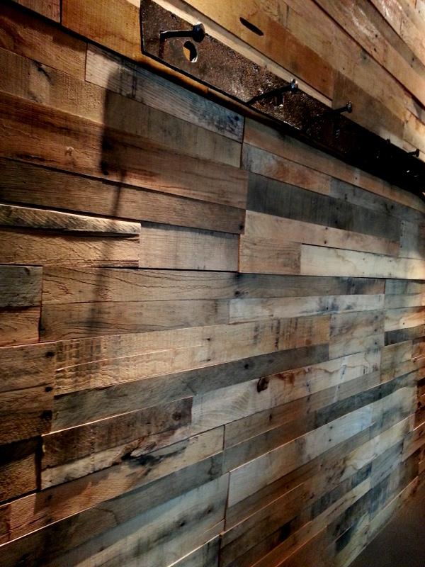 Reclaimed wood paneling