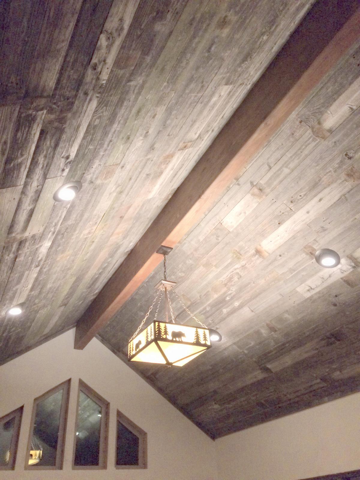 Reclaimed Wood Ceiling Planks