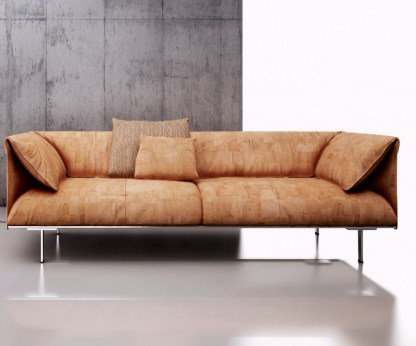 Cork Leather Sofa - Patchwork - Secouro