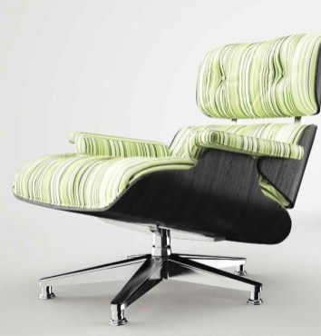 Green Striped Recliner - Secouro
