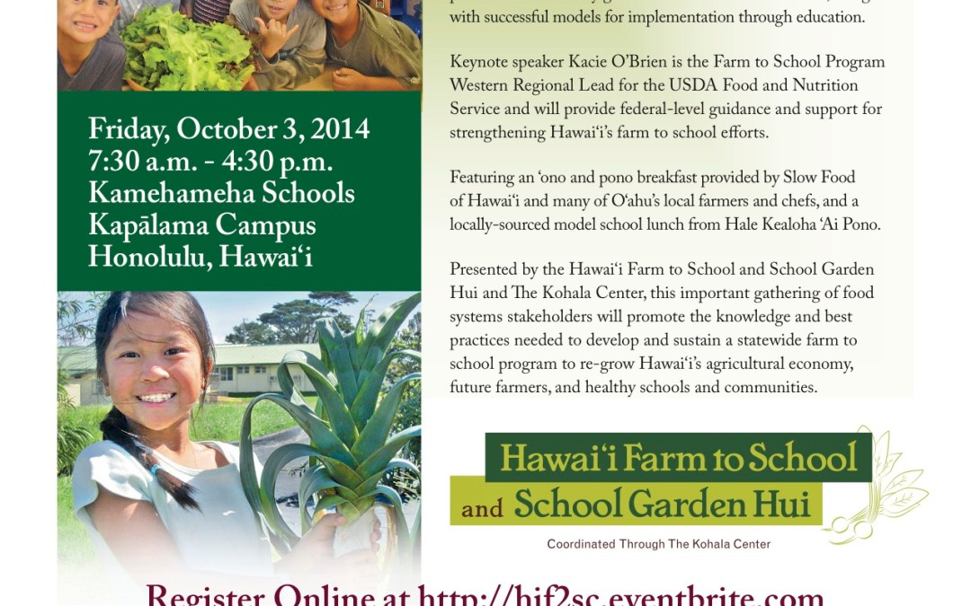 Hawaii Farm to School Conference